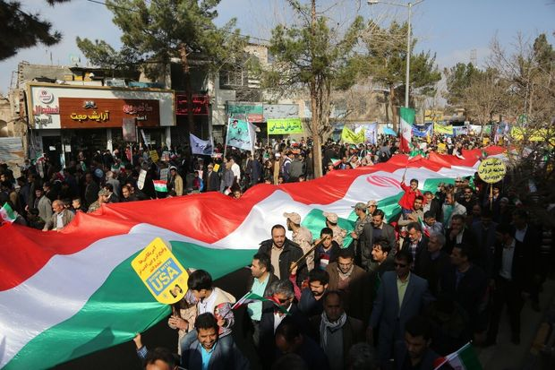 آمادگی مردم پلدشت برای حضور در راهپیمایی ۱۳ آبان