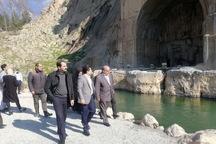 استاندار کرمانشاه از محوطه تاریخی تاق بستان بازید کرد