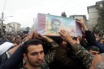 شهید گیلان نژاد پس از 30 در گلزار شهدای چالوس آرام گرفت