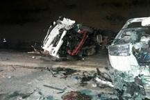 تصادف در جاده یاسوج-اصفهان 6 زخمی برجا گذاشت
