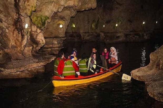 6000 گردشگر نوروزی از غار آبی سهولان مهاباد بازدید کردند