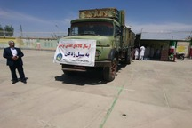 کمک های مردم ایرانشهر برای سیلزدگان ارسال شد