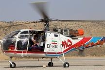 نجات جان دو مادر باردار در کهگیلویه و بویراحمد توسط اوژانس هوایی