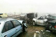تصادف زنجیرهای در آزادراه تهران-کرج یک کشته و ۲ مصدوم برجا گذاشت
