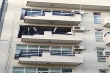 انفجار در طبقه چهارم ساختمانی در خیابان آذری تبریز