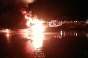 آتشسوزی در بندر شهید رجایی بندرعباس