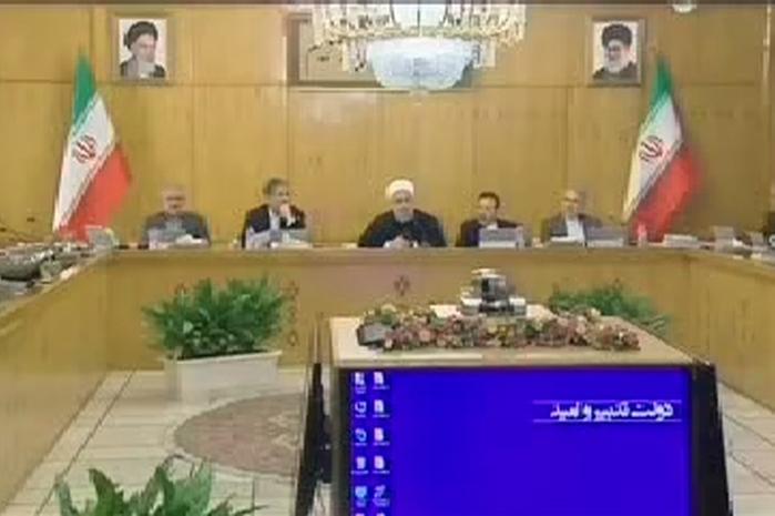 فیلم دفاع روحانی از اظهارات ظریف در جلسه هیات دولت