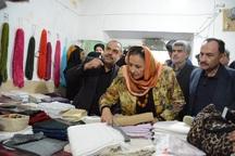 ارزیابان شورای جهانی صنایع دستی از توبافی خراشاد دیدن کردند