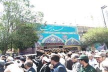 پیکر همسر آیت الله علم الهدی در مشهد تشییع شد