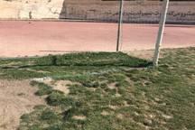 کیفیت چمن ورزشگاه ملکشاهی ایلام نامناسب است