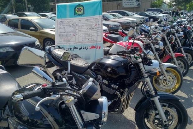 40 دستگاه خودرو و موتورسیکلت در تاکستان توقیف شد