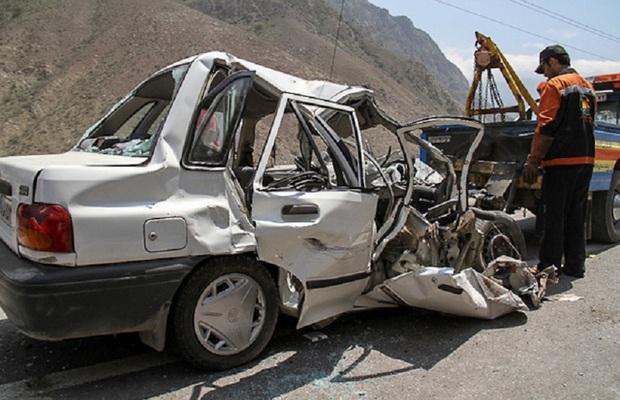 تصادف  در جاده کرج - چالوس چهارمصدوم برجای گذاشت