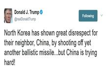 واکنش توئیتری ترامپ به آزمایش موشکی کرهشمالی
