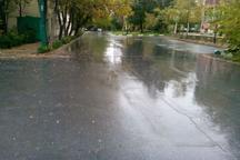 نخستین باران پائیزی استان قزوین را فرا گرفت