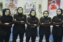 حضور تیم ووشو بانوان سیستان و بلوچستان در رقابت های کشوری