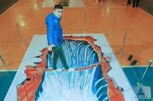 نمایشگاه نقاشی های سه بعدی در جلفا