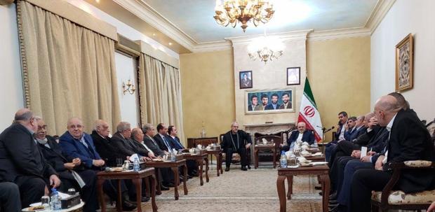 دیدار ظریف با نمایندگان گروهها، احزاب و جریانهای سیاسی لبنان