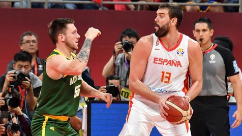 صعود اسپانیا به فینال جام جهانی بسکتبال با پیروزی نفس گیر مقابل استرالیا