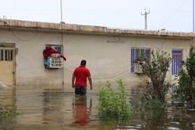 ارزیابی خسارت سیل به واحدهای مسکونی شعیبیه شوشتر آغاز شد