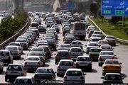 ترافیک صبحگاهی از ترمینال شهید کلانتری تا پل فردیس در آزادراه قزوین -کرج بارش باران در 3 محور کشور