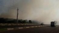 آتش سوزی در حوالی خیایان شهید رجایی تهران + فیلم