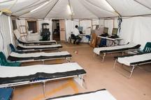 تجهیزات بیمارستان صحرایی کردستان به خوزستان ارسال شد