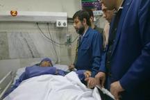 استاندار خوزستان از جوان سانحه دیده هلال احمر عیادت کرد
