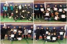 تیم فوتسال بانوان البرز 2 در مسابقات چهارجانبه مقام اول را کسب کرد