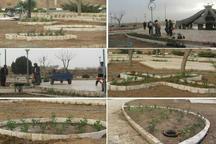 ابوزیدآباد با 6 هزار گل و درخت آراسته شد