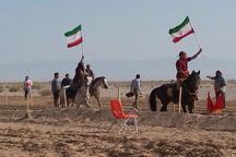 مسابقات هنرهای رزمی سوارکاران برتر کشور در مهریز آغاز شد