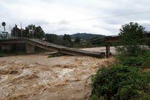 سیلاب به تاسیسات زیربنایی گیلان خسارت وارد کرد