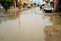 بارندگی موجب آبگرفتگی معابر در ماهشهر و بندر امام شد