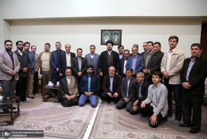 دیدار جمعی از اعضای هیات علمی دانشگاه مازندران با سید حسن خمینی