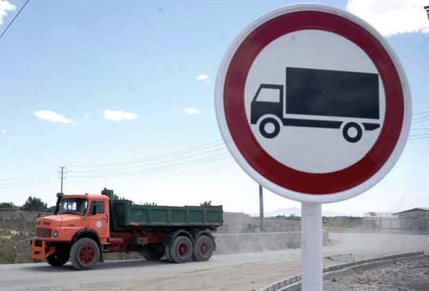تردد کامیون در محور آسیایی خراسان شمالی ممنوع است