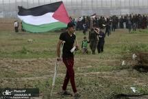 عکس/ یکمین سالروز تظاهرات هفتگی فلسطینی ها