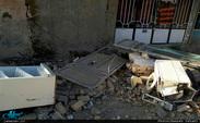 بارش باران در مناطق زلزلهزده/ عکس