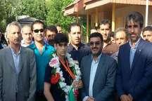 استقبال ورزشدوستان نکایی از نائب قهرمان تکواندو آسیا