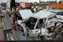 ۳ کشته و زخمی در تصادف محور ایرانشهر-ابتر