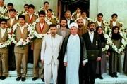مریم میرزاخانی در کنار آیت الله هاشمی در سال 74 + تصویر