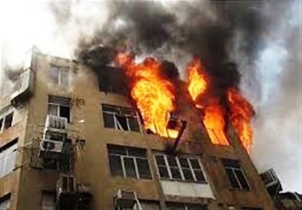 آتش سوزی مجنمع رفاهی بانک مرکزی در نوشهر یک کشته داد