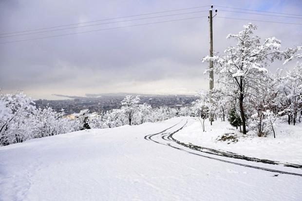 برف جاده های کرج - کندوان و طالقان را مسدود کرد