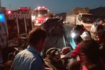 جان باختن 5 عضو یک خانواده در حادثه رانندگی در چهارمحال وبختیاری