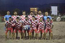 تیم فوتبال ساحلی نوشهر بر تیم ملوان بندرگز غلبه کرد