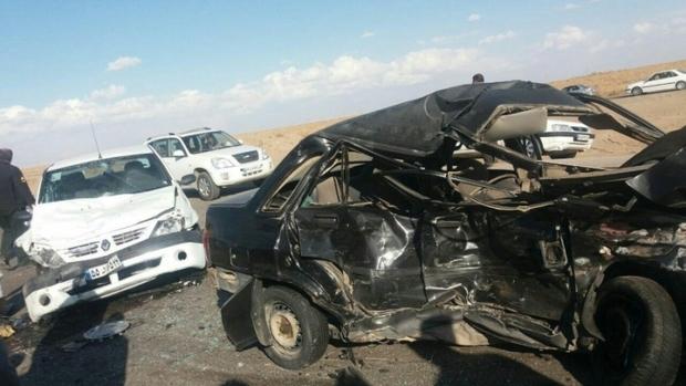 تصادف زنجیره ای در البرز ترافیک ایجاد کرد