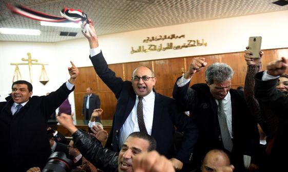 پایکوبی پس از حکم دادگاه مصری علیه عربستان