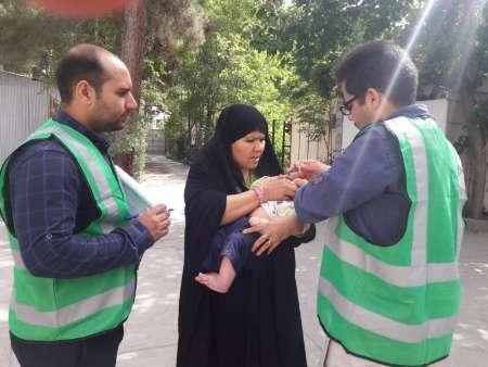 مرحله دوم طرح ملی واکسیناسیون تکمیلی فلج اطفال در فردیس اجراشد