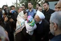 رئیس جمهوری ساری را به مقصد تهران ترک کرد