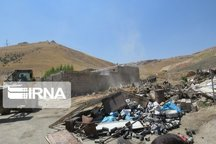 یک واحد مسکونی غیر مجاز در بیجار تخریب شد