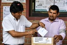 پیروزی مورالس در انتخابات ریاست جمهوری بولیوی و تظاهرات هوادارانش