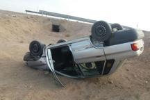 واژگونی پراید در خرمدشت تاکستان جان یک نفر را گرفت